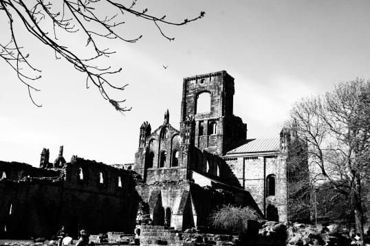 Kirkstall abbey 1 b&w